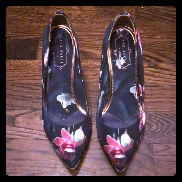 Shoes | Ted Baker Floral Shoes | Poshmark